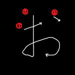 """Hiragana """"お"""" Stroke Order"""