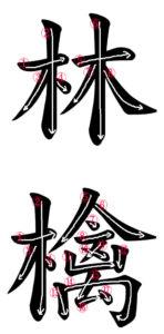 Stroke Order for 林檎