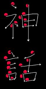 Stroke Order for 神話