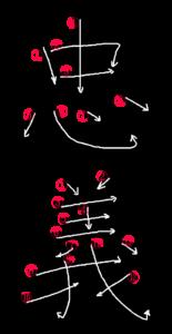 Kanji Writing Order for 忠義