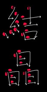 Kanji Writing Order for 結晶