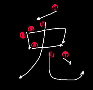 Kanji Stroke Order for 兎