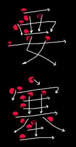 Stroke Order for 要塞