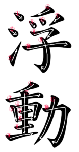 Stroke Order for 浮動