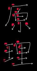 Stroke Order for 原理