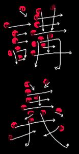 Stroke Order for 講義