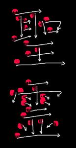 Stroke Order for 聖霊