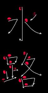 Stroke Order for 水路