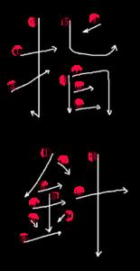 Stroke Order for 指針