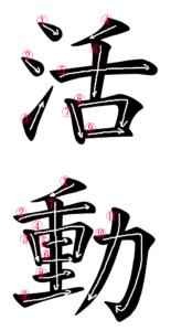 Japanedse Word for Activity