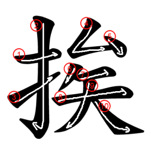 """Jouyou Kanji """"挨"""" Stroke Order"""
