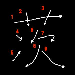 """Jouyou Kanji """"茨"""" Stroke Order"""