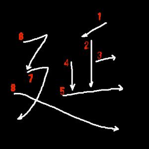 """Jouyou Kanji """"延"""" Stroke Order"""