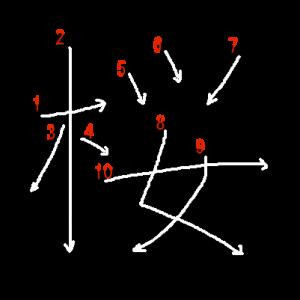 """Jouyou Kanji """"桜"""" Stroke Order"""