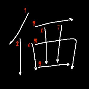 """Jouyou Kanji """"価"""" Stroke Order"""