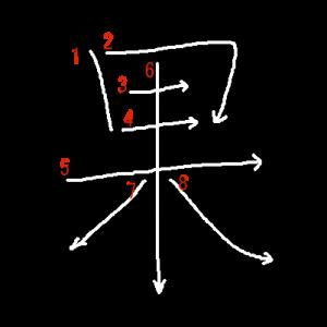 """Jouyou Kanji """"果"""" Stroke Order"""