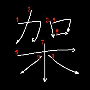 """Jouyou Kanji """"架"""" Stroke Order"""