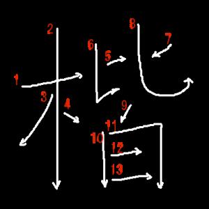 """Jouyou Kanji """"楷"""" Stroke Order"""