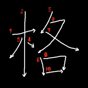 "Jouyou Kanji ""格"" Stroke Order"