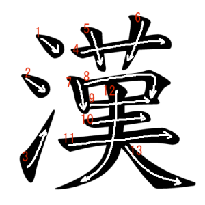 """Jouyou Kanji """"漢"""" Stroke Order"""
