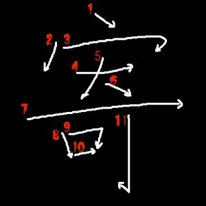"""Jouyou Kanji """"寄"""" Stroke Order"""
