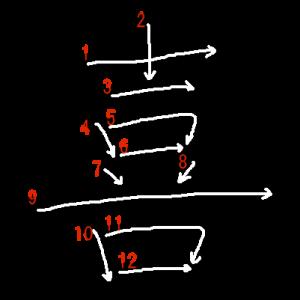 """Jouyou Kanji """"喜"""" Stroke Order"""