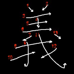 """Jouyou Kanji """"義"""" Stroke Order"""