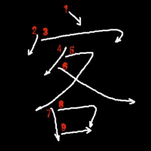 """Jouyou Kanji """"客"""" Stroke Order"""