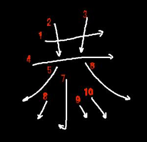 """Jouyou Kanji """"恭"""" Stroke Order"""