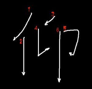 """Jouyou Kanji """"仰"""" Stroke Order"""