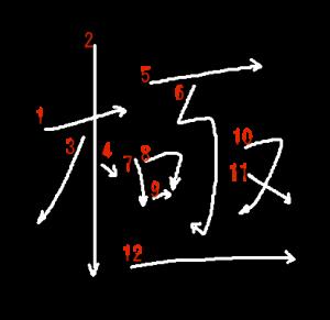 """Jouyou Kanji """"極"""" Stroke Order"""
