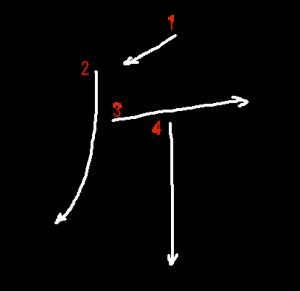"""Jouyou Kanji """"斤"""" Stroke Order"""