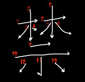 """Jouyou Kanji """"禁"""" Stroke Order"""