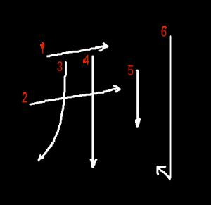 """Jouyou Kanji """"刑"""" Stroke Order"""