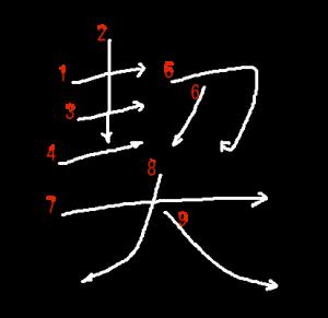 """Jouyou Kanji """"契"""" Stroke Order"""