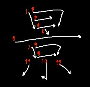 "Jouyou Kanji ""景"" Stroke Order"