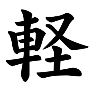 "Jouyou Kanji ""軽"""