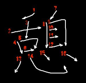 """Jouyou Kanji """"憩"""" Stroke Order"""