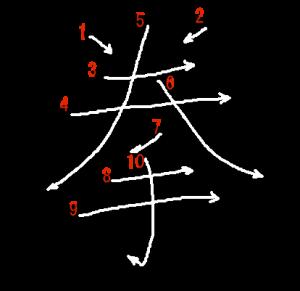 """Jouyou Kanji """"拳"""" Stroke Order"""