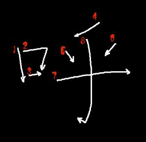 """Jouyou Kanji """"呼"""" Stroke Order"""