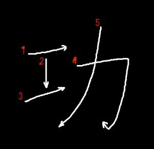 """Jouyou Kanji """"功"""" Stroke Order"""