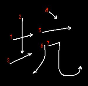 """Jouyou Kanji """"坑"""" Stroke Order"""