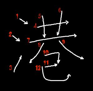"""Jouyou Kanji """"港"""" Stroke Order"""