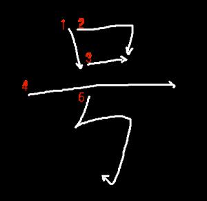 """Jouyou Kanji """"号"""" Stroke Order"""