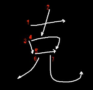 """Jouyou Kanji """"克"""" Stroke Order"""