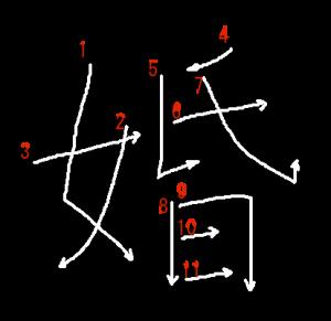 """Jouyou Kanji """"婚"""" Stroke Order"""
