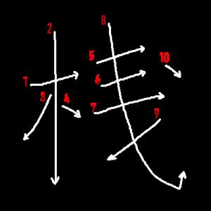 "Jouyou Kanji ""桟"" Stroke Order"