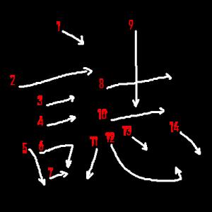 """Jouyou Kanji """"誌"""" Stroke Order"""