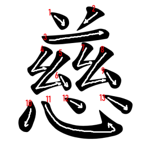"""Jouyou Kanji """"慈"""" Stroke Order"""