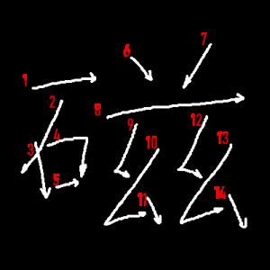 """Jouyou Kanji """"磁"""" Stroke Order"""